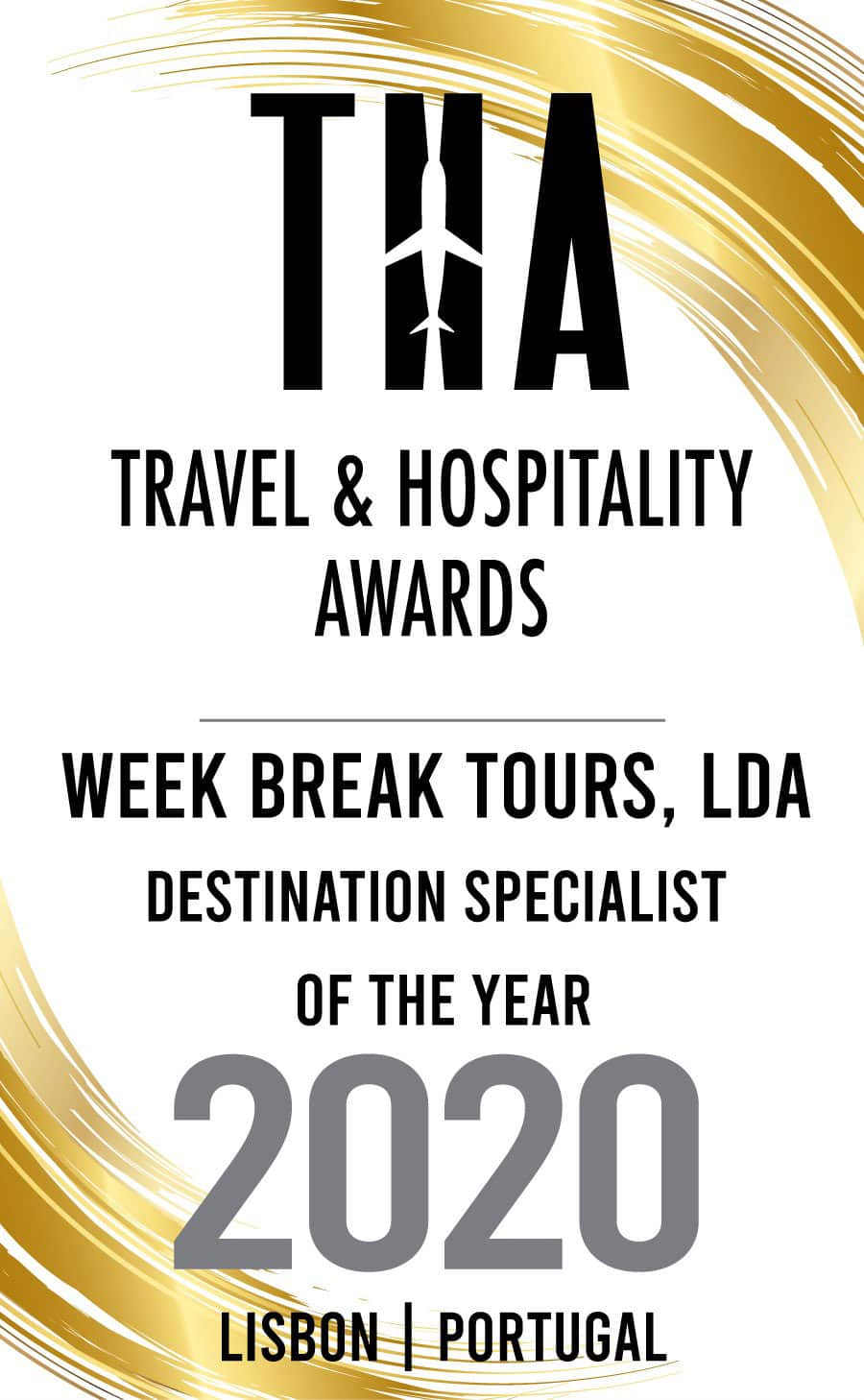 Week Break Tours Portugal Travel & Hospitality award